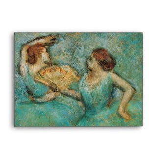 Two Dancers by Edgar Degas Envelope
