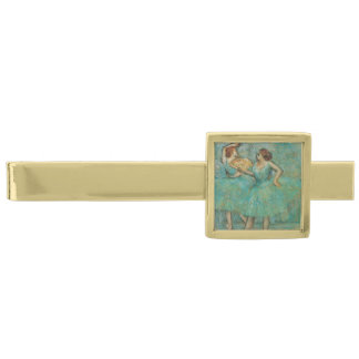 Two Dancers by Edgar Degas Gold Finish Tie Bar