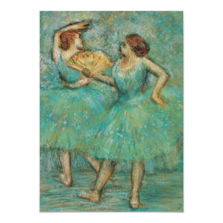 Two Dancers by Edgar Degas 5x7 Paper Invitation Card