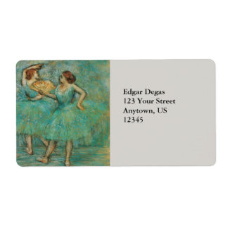 Two Dancers by Edgar Degas Label