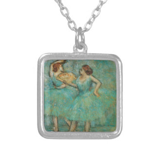 Two Dancers by Edgar Degas Silver Plated Necklace