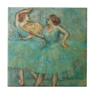 Two Dancers by Edgar Degas Ceramic Tile