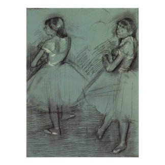 Two Dancers by Edgar Degas, Vintage Ballet Art Poster