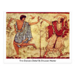 Two Dancers Detail By Etruscan Master Postcards