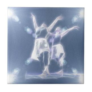 Two Dancers in light Ceramic Tile