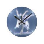 Two Dancers in light Clock