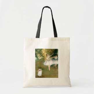 Two Dancers - Japanese Chin (L1) Budget Tote Bag