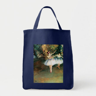 Two Dancers on a Stage by Degas Grocery Tote Bag