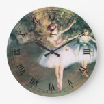 Two Dancers on a Stage by Degas, Vintage Ballet Clock