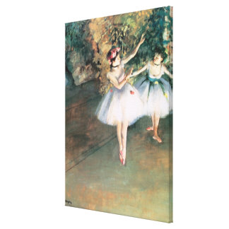 Two Dancers on a Stage by Edgar Degas, Vintage Art Canvas Print