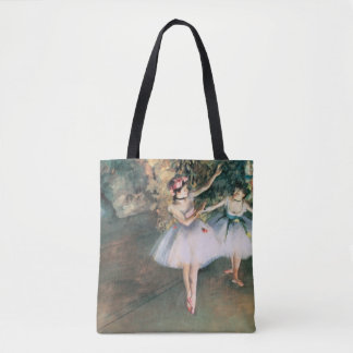 Two Dancers on a Stage by Edgar Degas, Vintage Art Tote Bag