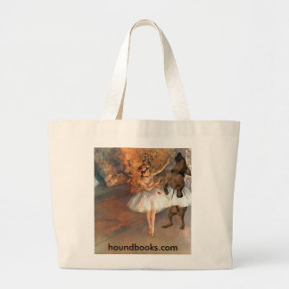 Two Dancers on a Stage Large Tote Bag