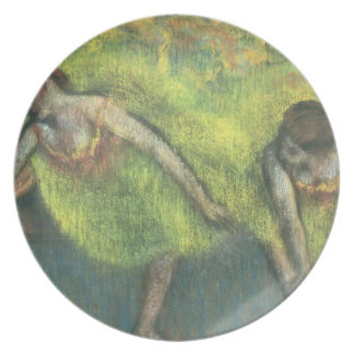 Two dancers relaxing pastel party plates