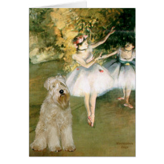 Two Dancers - Wheaten Terrier 7 Greeting Card