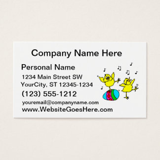 two dancing chick and easter egg.png business card