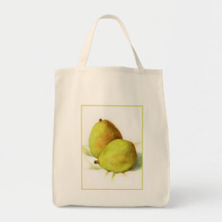 Two D'Anjou Pears Grocery Tote - Natural Canvas Bags