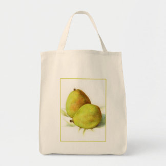 Two D'Anjou Pears Organic Grocery Tote Tote Bags