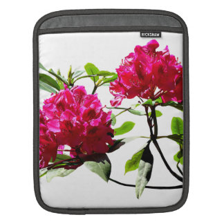 Two Dark Red Rhododendrons Sleeves For iPads