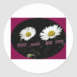 Two Daysies You and me? Round Sticker