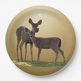 TWO DEER 9 INCH PAPER PLATE
