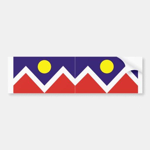 TWO Denver, Colorado Flag Car Bumper Sticker