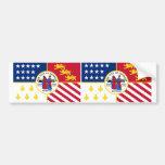 TWO Detroit Flag Car Bumper Sticker
