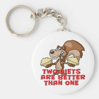 Two Diets Keychain