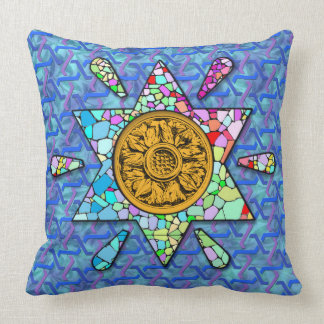 Two different Star of David motifs Throw Pillow