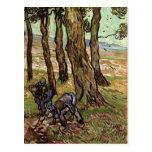 Two Diggers Among Trees, Vincent van Gogh Postcard