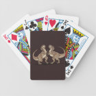 Two dinosaurs fighting each other illustration bicycle playing cards