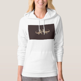 Two dinosaurs fighting each other illustration hoody