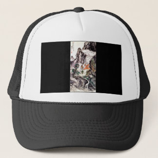 Two Divinities Dancing c. 1924 Japanese Painting Trucker Hat