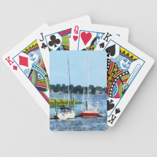 Two Docked Sailboats Norwalk, CT Bicycle Playing Cards