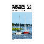 Two Docked Sailboats Norwalk, CT Postage Stamp