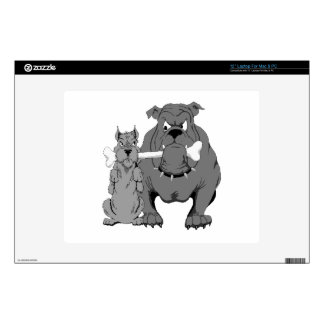 """Two Dogs and a Bone Decal For 12"""" Laptop"""