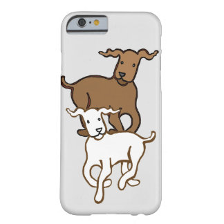 Two dogs barely there iPhone 6 case