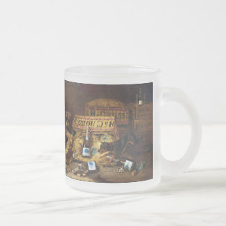 Two dogs Chasing a Mouse Frosted Glass Coffee Mug