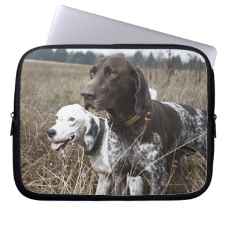 Two Dogs in Field, Houston, Texas, USA Laptop Computer Sleeves