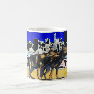 Two Dogs in the City Classic White Coffee Mug