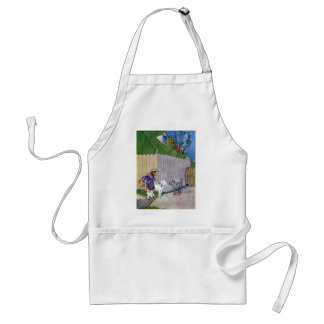 Two Dogs Meet in Alley Adult Apron