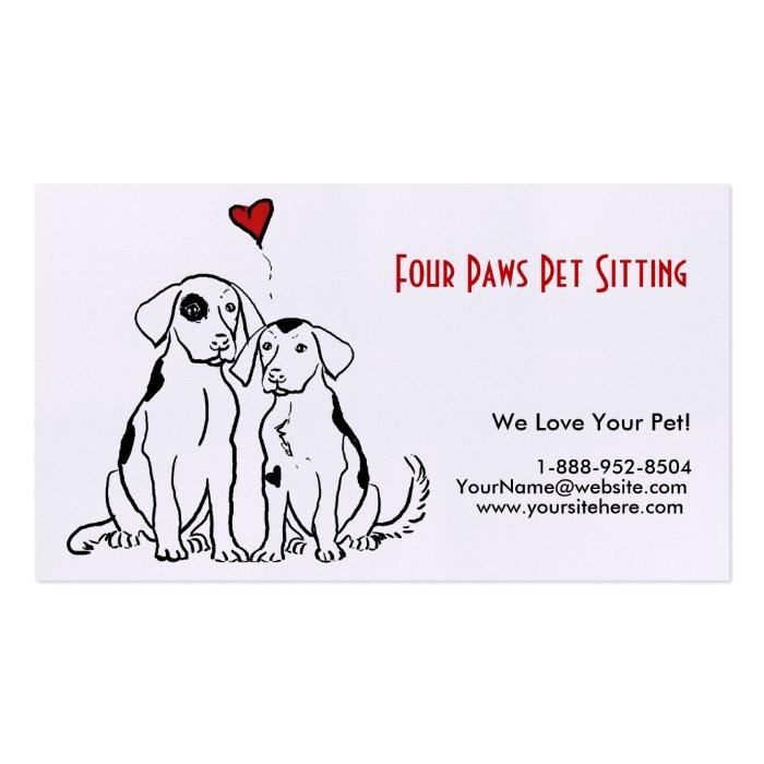 Dog sitting business cards militaryalicious dog sitting business cards reheart Images