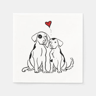 Two Dogs Puppy Love Napkin