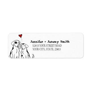Two Dogs Puppy Love Return Address Label