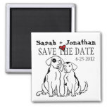 Two Dogs Puppy Love Save The Date Refrigerator Magnets