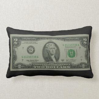 Two Dollar Bill Throw Pillow