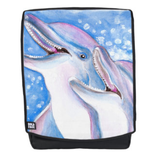 two dolphins backpack