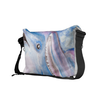 two dolphins courier bag