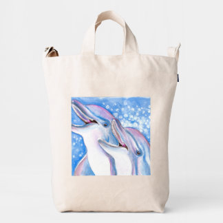 two dolphins duck bag