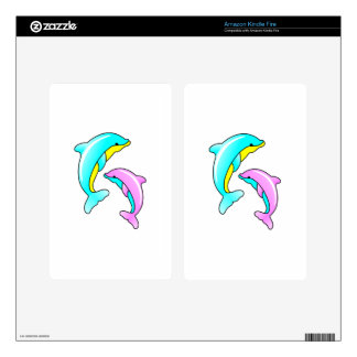 Two Dolphins Kindle Fire Decal