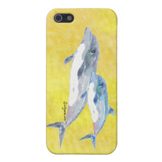 Two Dolphins, Mom and Baby iPhone 4 Case